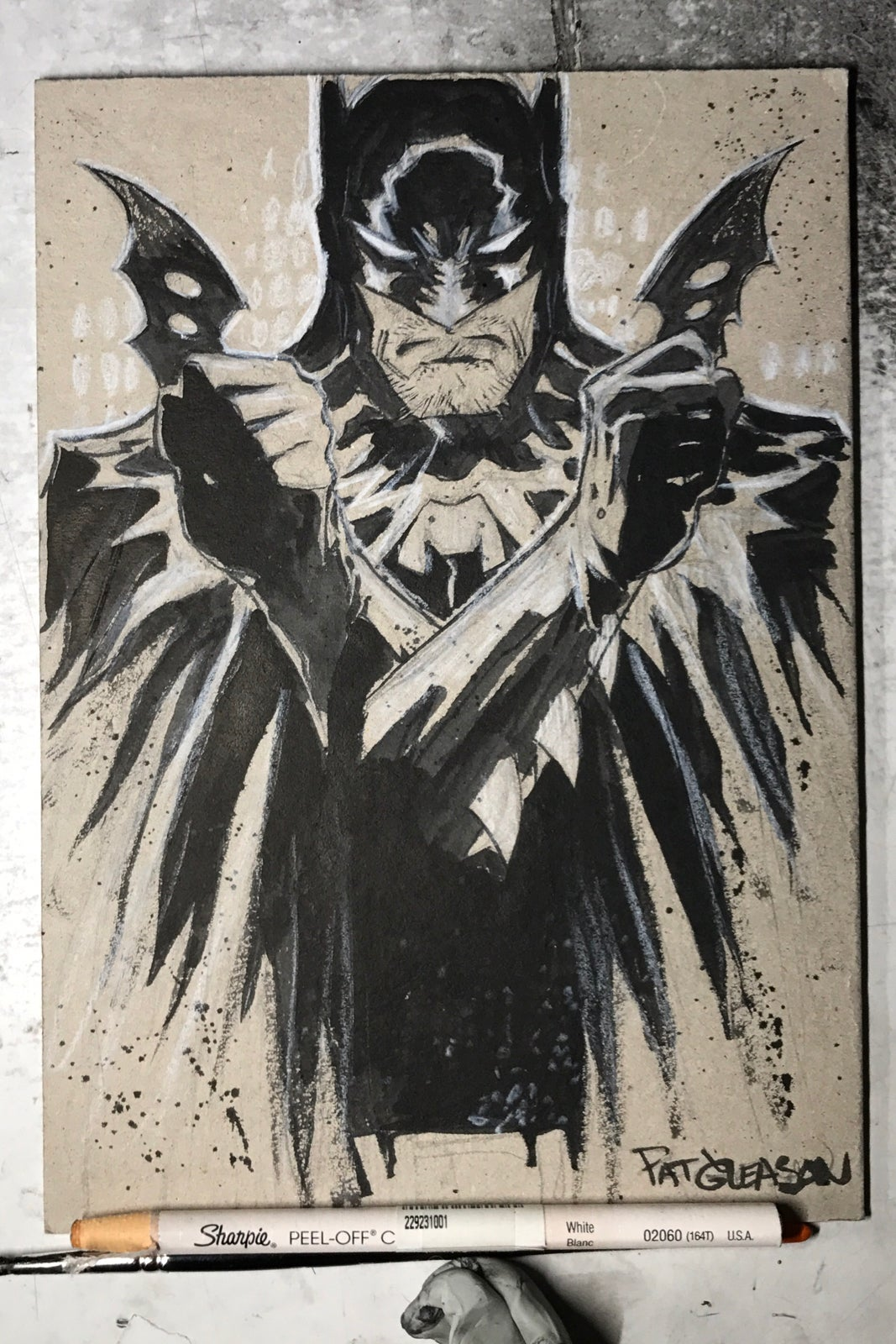 Image of Batman Brush Art