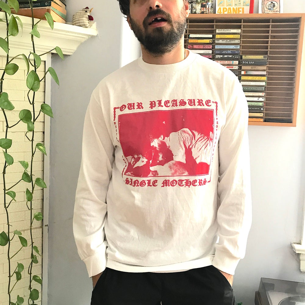 Image of Our Pleasure Chains Long Sleeve - White/Pink