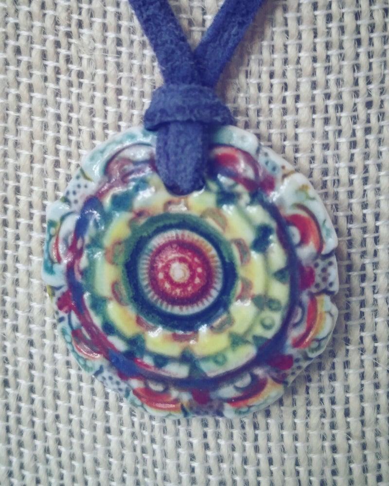 Image of Bohemianwimz Mandala Porcelain Pendant