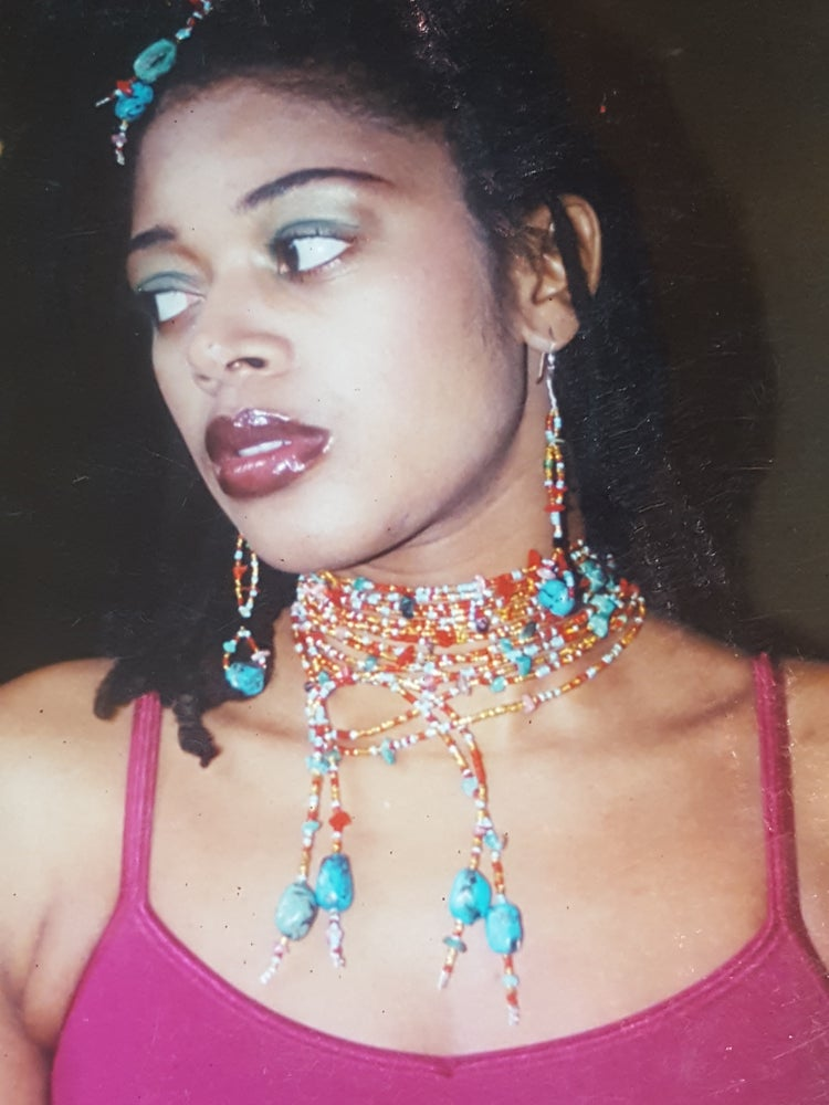 Image of Beaded drop earring