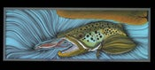 Image of The Yellow Dragon- Original Brown Trout Painting