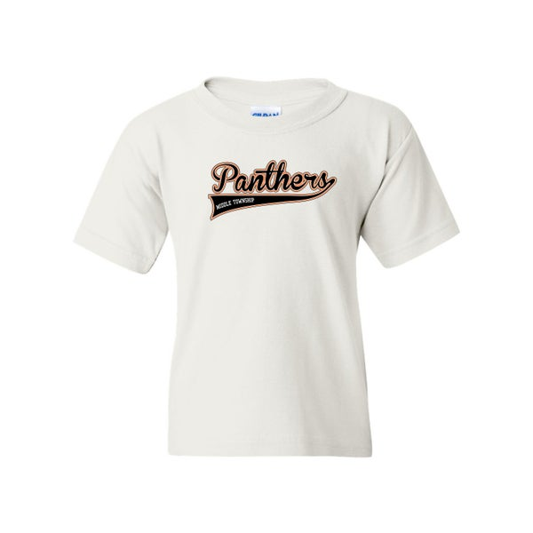 Image of Youth Panthers Logo Tee (White)