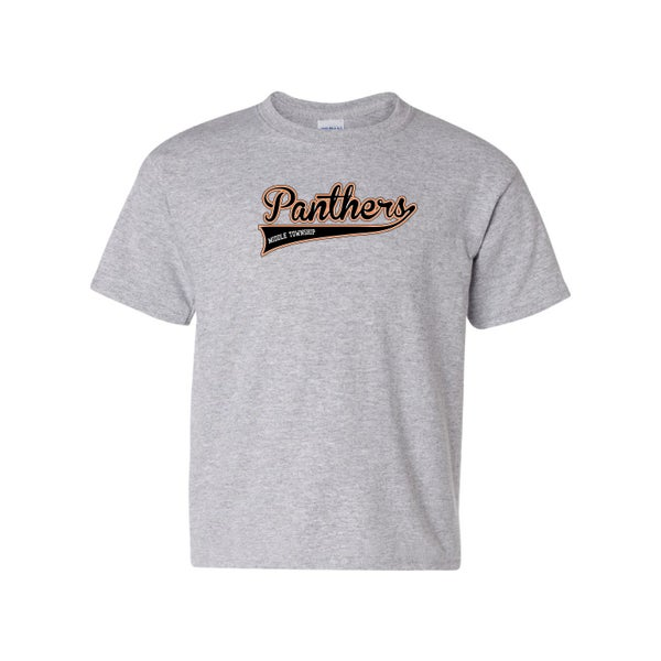 Image of Youth Panthers Logo Tee (Grey)