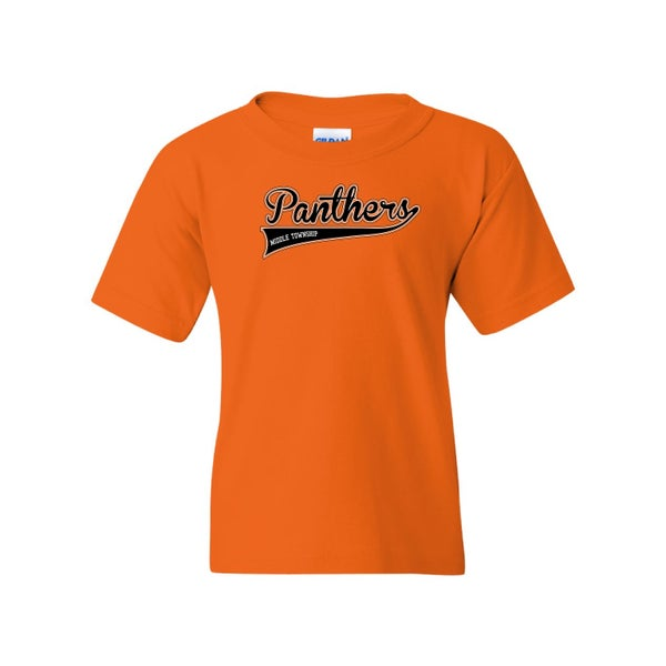 Image of Youth Panthers Logo Tee (Orange)