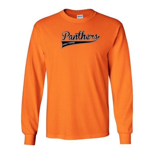 Image of Panthers Logo Longsleeve Tee (Orange)