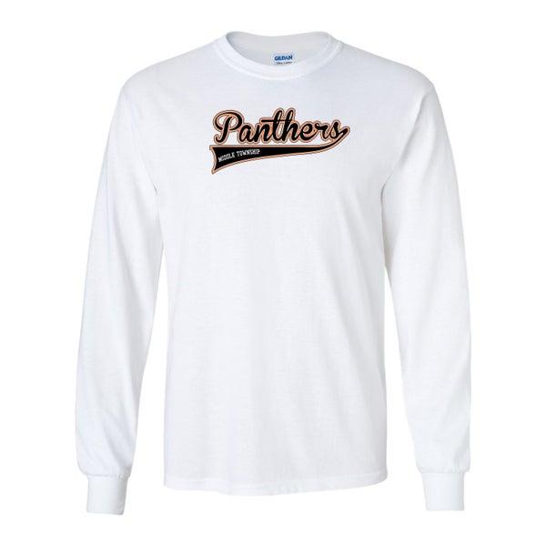 Image of Panthers Logo Longsleeve Tee (White)