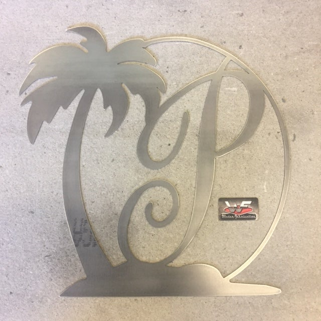 Image of Palm Tree with Letter