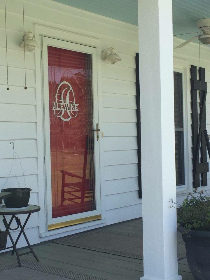 Image of Split Letter Front Door Sign