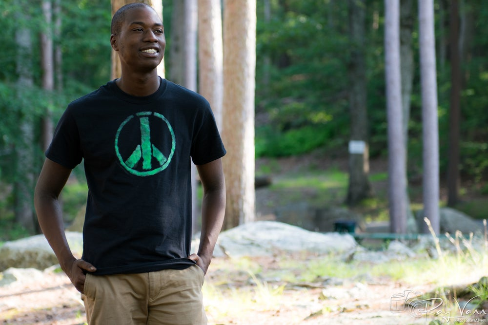 Image of Green Peace Sign Tee