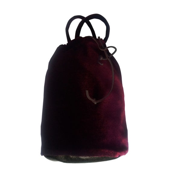 Image of Vibe Velvet Pouch w/ Leather