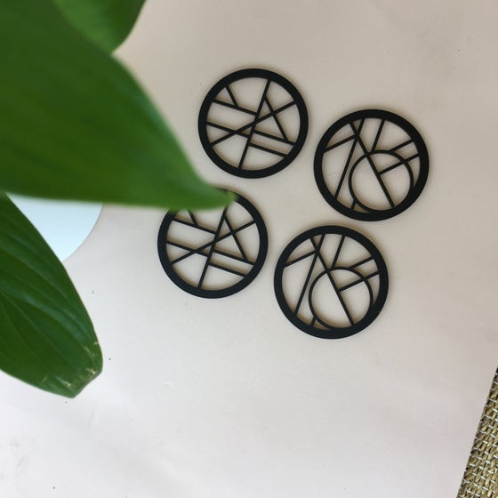 Image of Geometric coasters [pattern 1]