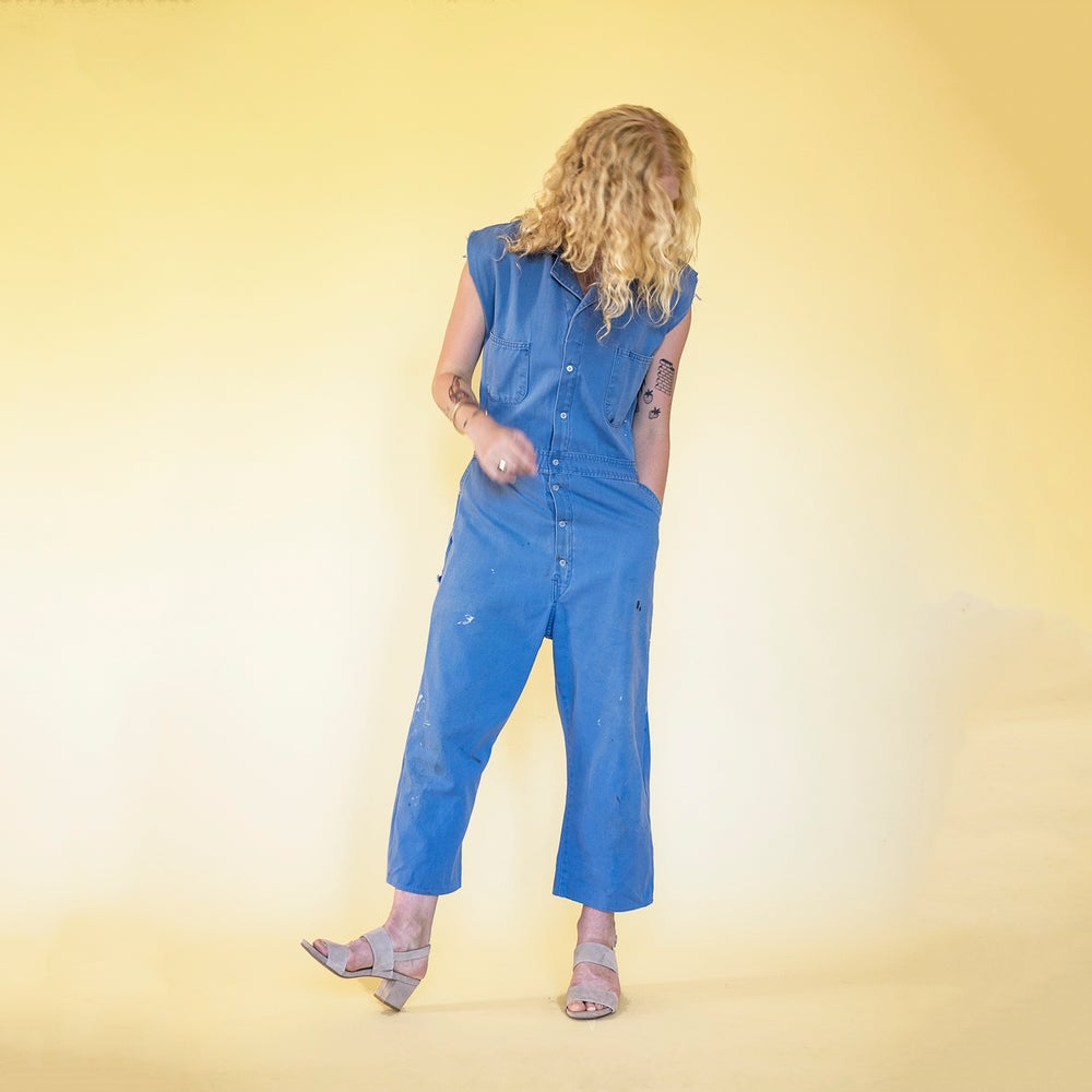 Image of DELLA COVERALLS - FRENCH BLUE