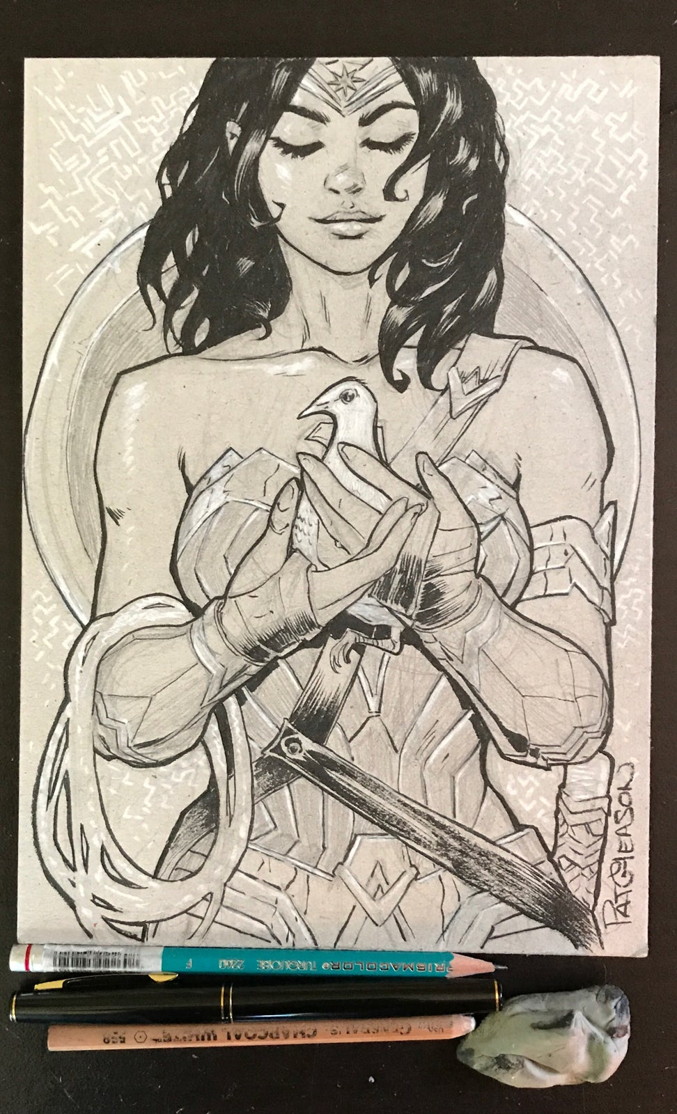 Image of Diana and Dove. Wonder Woman.