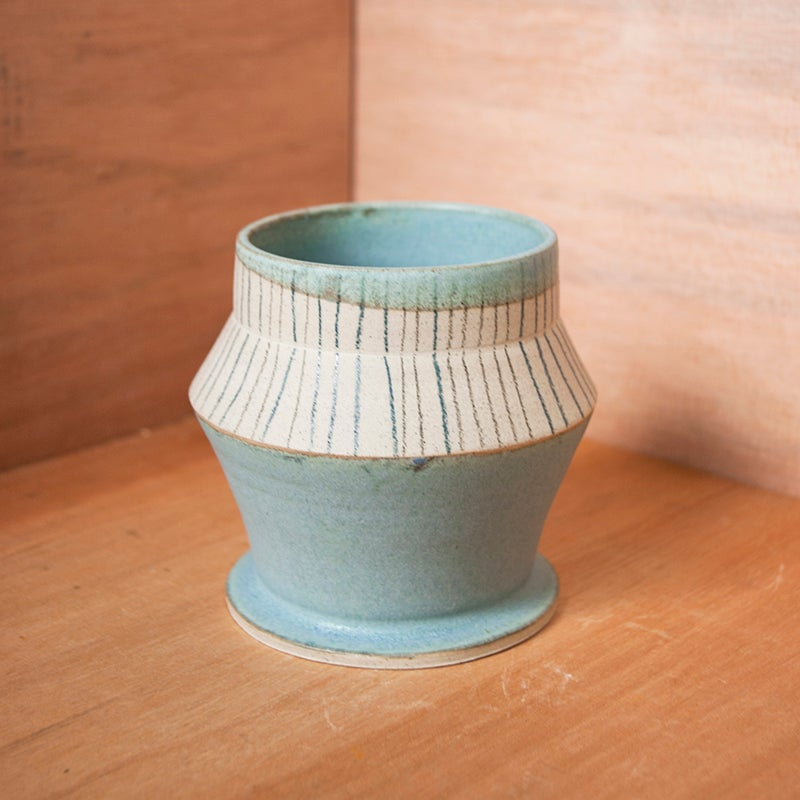 Image of Dusty blue planter