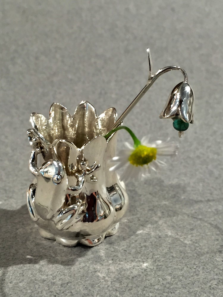 Image of Frog Vase Miniature Sculpture