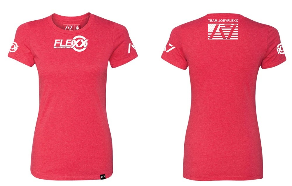 Image of Red/White Flexx/A7 Women's Competition Tee