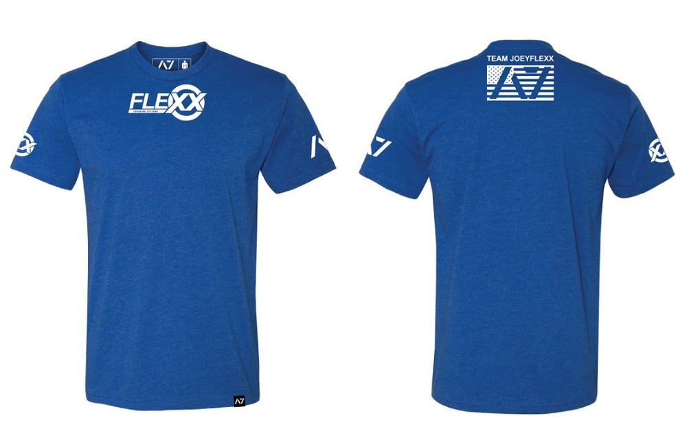Image of Blue/White Flexx/A7 Men's Competition Tee