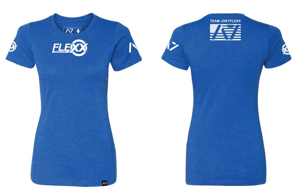 Image of Blue/White Flexx/A7 Women's Competition Tee