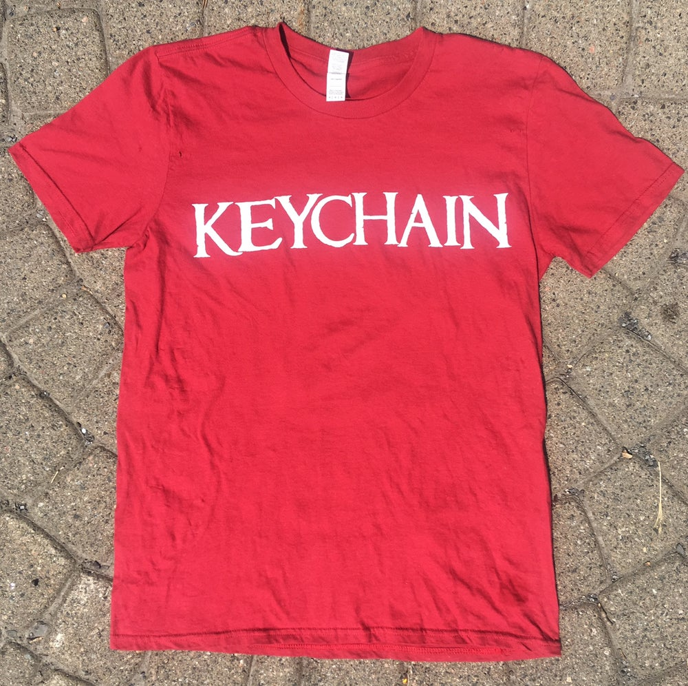"Image of ""Enlarged Print"" CARDINAL RED T-Shirt"