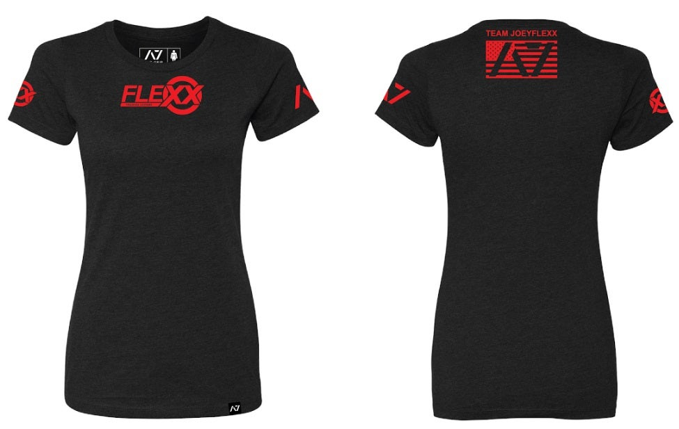 Image of Black/Red Flexx/A7 Women's Competition Tee