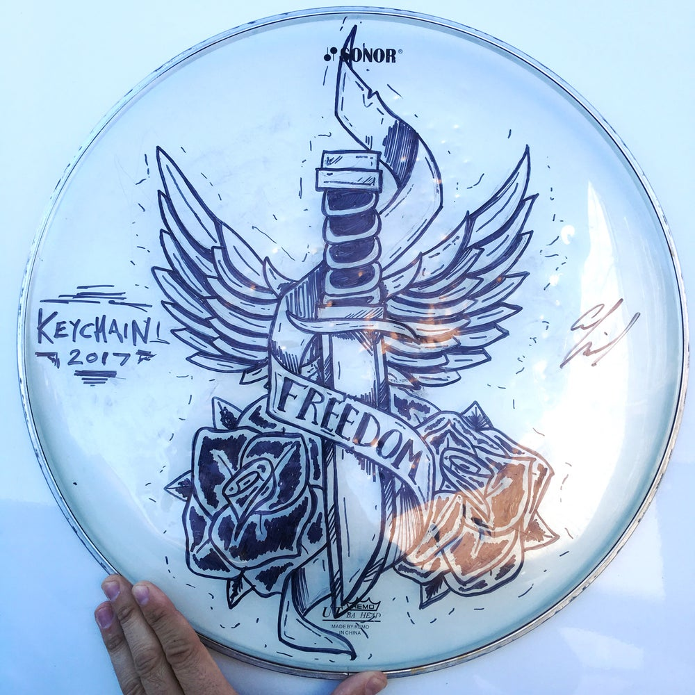 Image of *CUSTOM* Drum-Head Drawing (SIGNED)