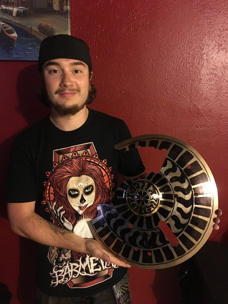 Image of *Custom* Cymbal Design (on LIVE Broken Cymbal, SIGNED)