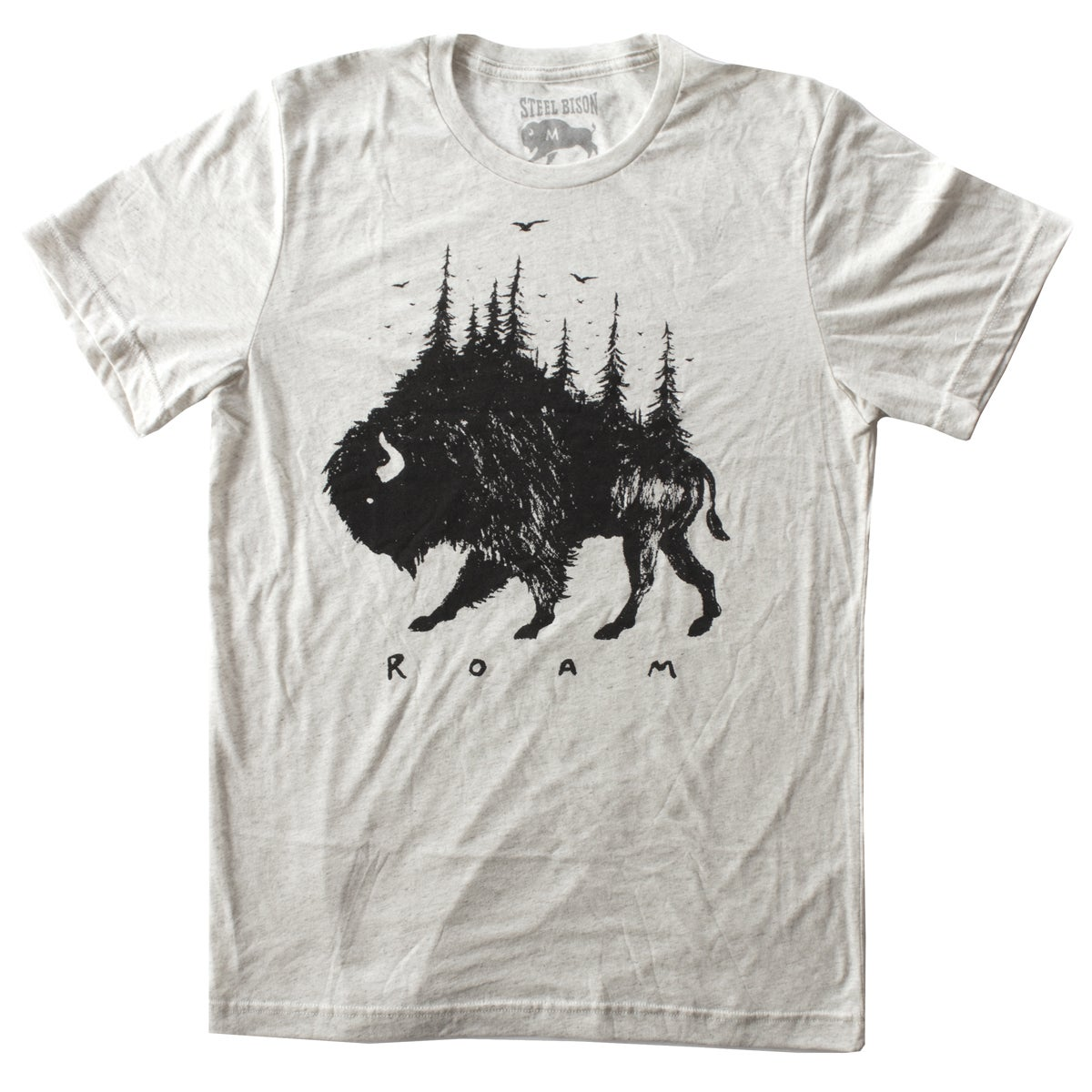 Image of T-SHIRT - BISON PINES (OATMEAL)