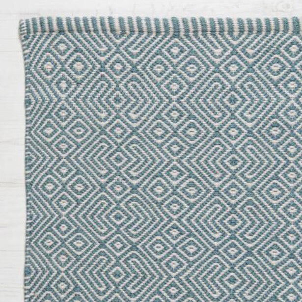 Image of Provence Rug in Teal Blue