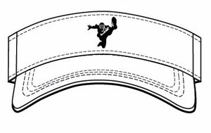 Image of Kornblue Kicking White Adjustable Visor