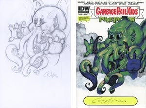 Image of Preliminary GPK Cthulhu Pencil Sketch For Sketch Cover