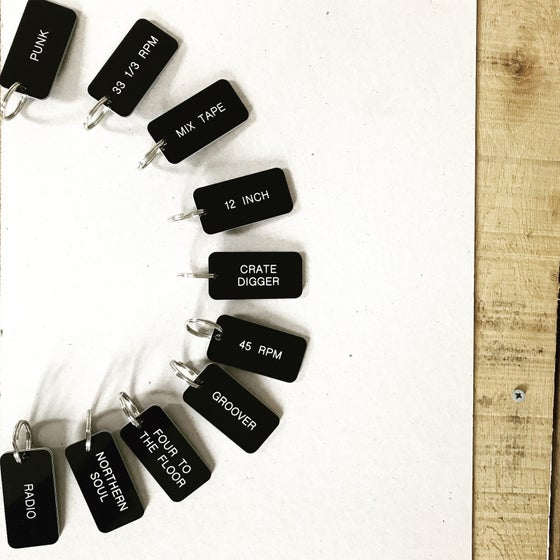 Image of Music Keyring Collection in Black + White