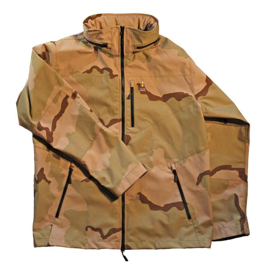 Image of Antero 5 New ! Zip in Hood to Collar Goretex Desert Camo Jacket Made in Colorado USA