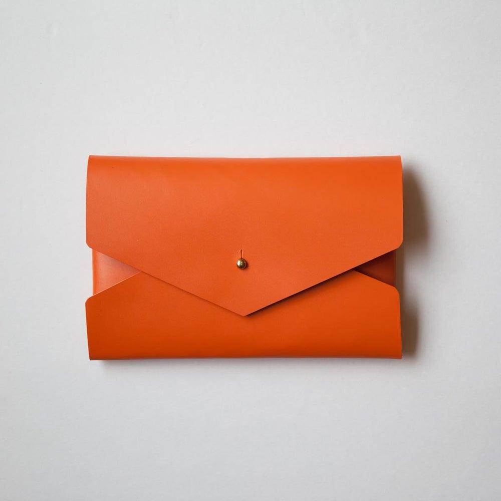 Image of Orange Envelope Clutch
