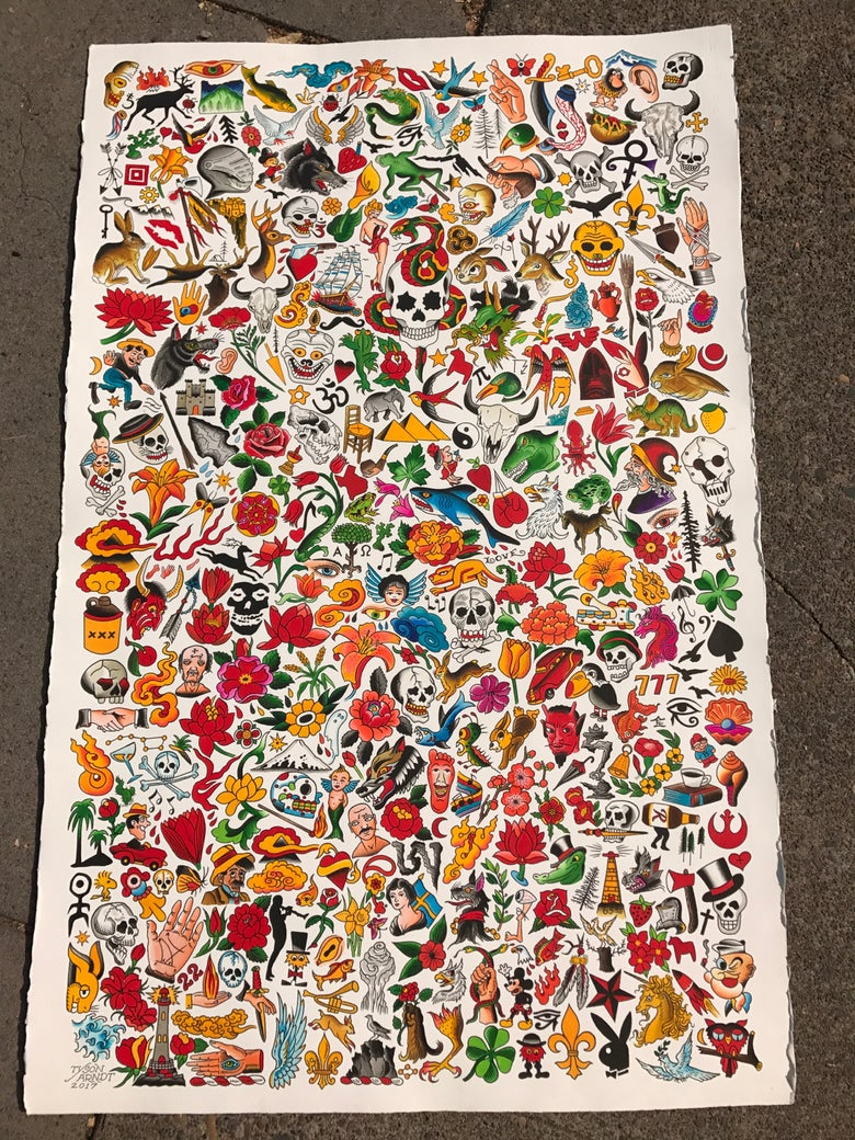 Image of Giant Flash sheet 2017 (giclee print)