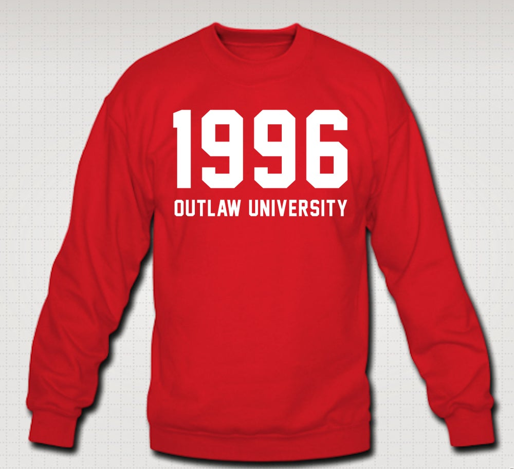 Image of 1996 Crewneck - Comes in Black, Red, Grey, Navy Blue-CLICK HERE TO SEE ALL COLORS