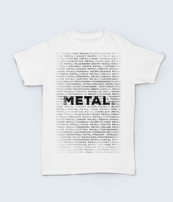 Image of Metal shirt (white)