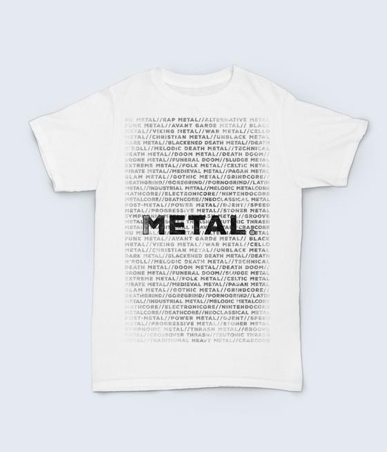 Image of Metal shirt (white)