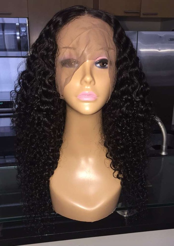 """Image of Indian Wavy/Curly 22"""" 360 Custom Lace Frontal Wig!"""