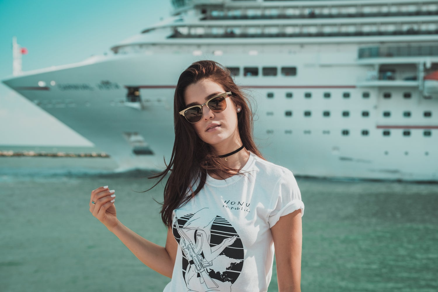 """Image of HONU REPUBLIC """"The Fittest Survive"""" WHITE TEE"""
