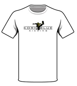 Image of Kornblue Kicking Dri-Fit White Short Sleeve Shirt