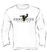 Image of Kornblue Kicking Dri-Fit White Long Sleeve Shirt