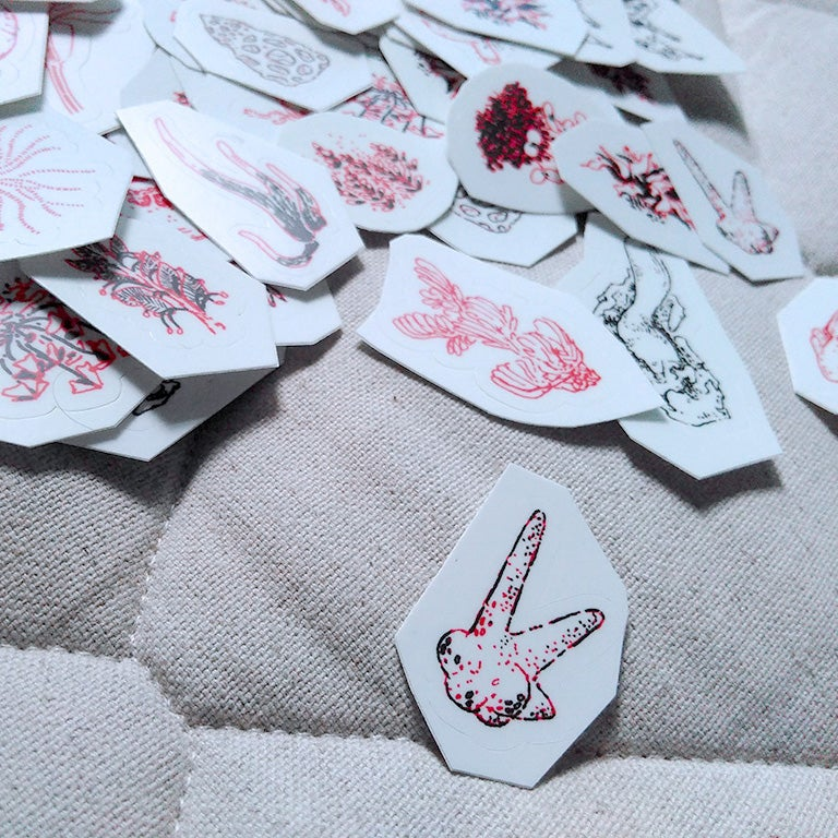 Image of tentative organs for tentative bodies stickers