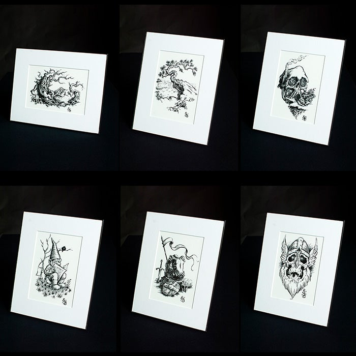 Image of Inktober Print collection