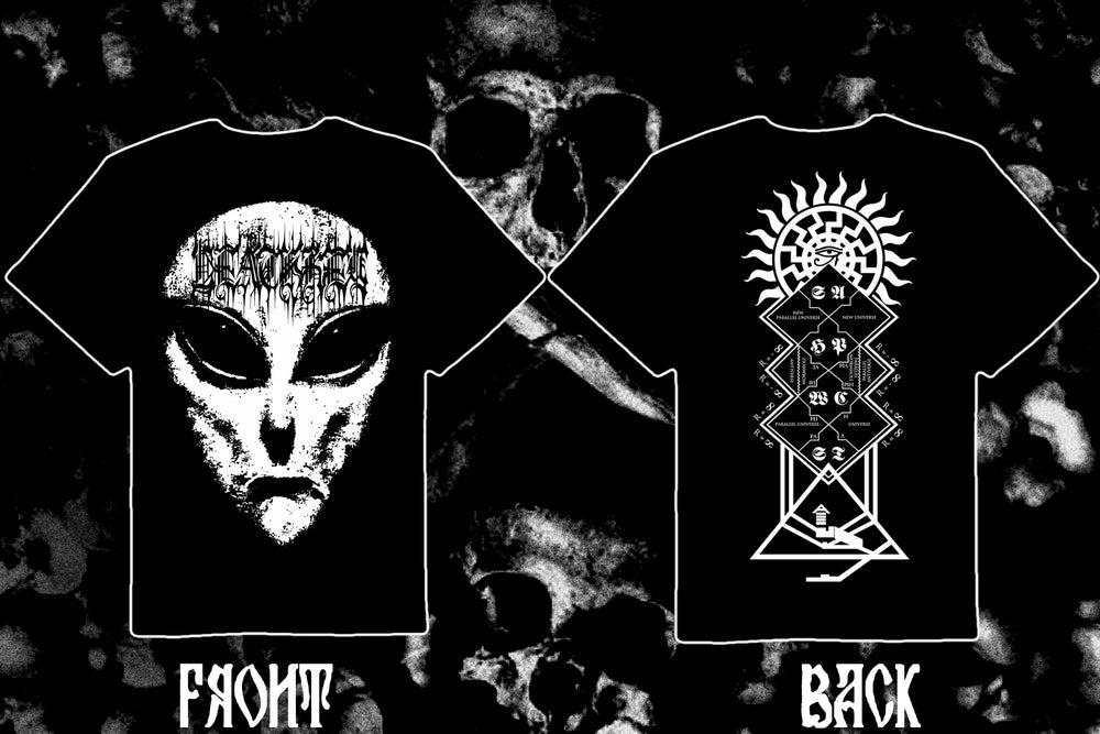 """Image of DEATHKEY """"Deathgate: Alienation"""" double sided t-shirt."""
