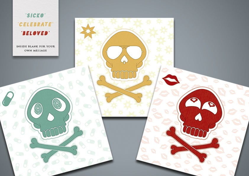 Image of Skull Greetings Cards