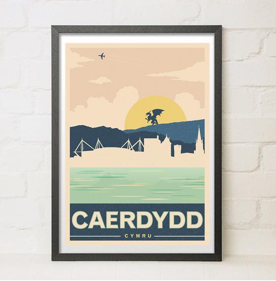 Image of Caerdydd Travel Poster (Welsh Variant)