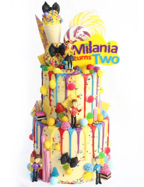 Image of Wiggles Inspired Logo Cake Topper