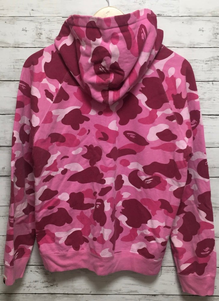 Image of Bape Pirate Store Exclusive Pink Camo Hoodie Vintage
