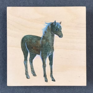 Image of Cynthia Thornton—Horse Painting on Wood