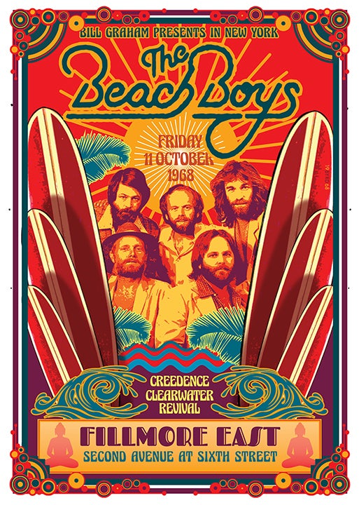 Image of The BEACH BOYS at the Fillmore East 1968